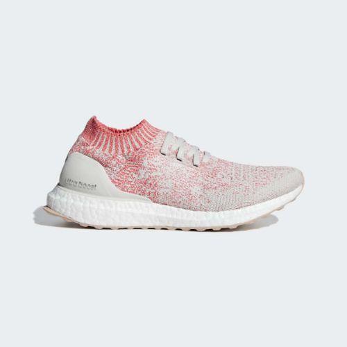 (取寄)アディダス レディース ウルトラブースト アンケージド ランニングシューズ adidas Women Ultraboost Uncaged Shoes Raw White / Raw White / Shock Red