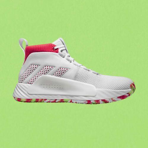 (取寄)アディダス メンズ デイム 5 バスケットボールシューズ adidas Men's Dame 5 Shoes Cloud White / Shock Red / Crystal White
