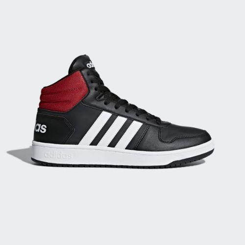 (取寄)アディダス メンズ フープス 2.0ミッド バスケットボールシューズ adidas Men's Hoops 2.0 Mid Shoes Core Black / Cloud White / Scarlet