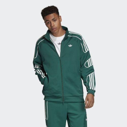 (取寄)アディダス オリジナルス メンズ フレームストライク トラック ジャケット adidas originals Men's Flamestrike Track Jacket Collegiate Green