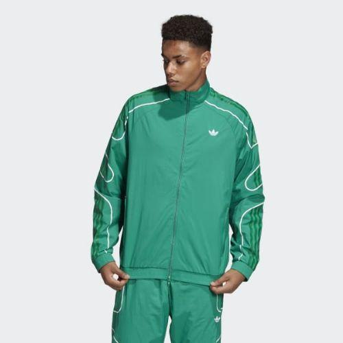 (取寄)アディダス オリジナルス メンズ フレームストライク トラック ジャケット adidas originals Men's Flamestrike Track Jacket Bold Green