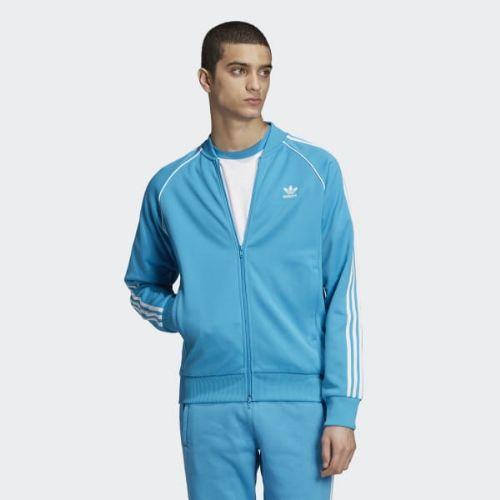 (取寄)アディダス オリジナルス メンズ SST トラック ジャケット adidas originals Men's SST Track Jacket Shock Cyan