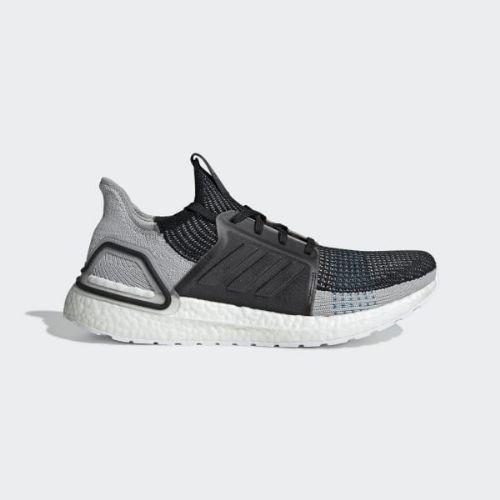 (取寄)アディダス メンズ ウルトラブースト 19 ランニングシューズ adidas Men's Ultraboost 19 Shoes Core Black / Grey Six / Shock Cyan
