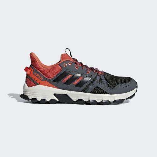 (取寄)アディダス メンズ Rockadia トレイル ランニングシューズ adidas Men's Rockadia Trail Shoes Grey Six / Core Black / Raw Amber