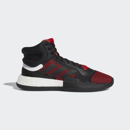 (取寄)アディダス メンズ マーキー ブースト バスケットボールシューズ adidas Men's Marquee Boost Shoes Active Red / Core Black / Aero Blue