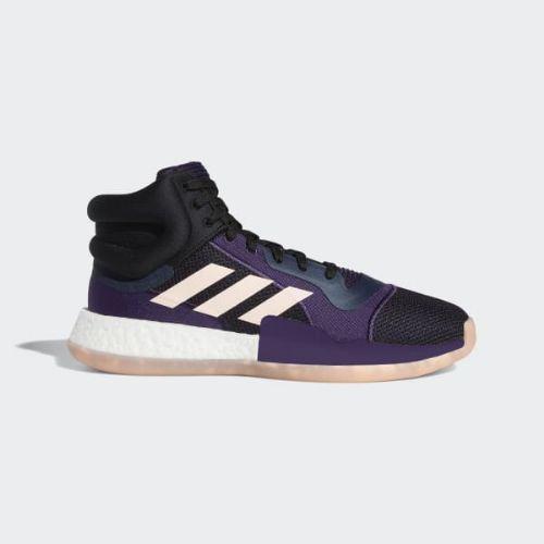 (取寄)アディダス メンズ マーキー ブースト バスケットボールシューズ adidas Men's Marquee Boost Shoes Collegiate Navy / Grey Six / Legend Purple