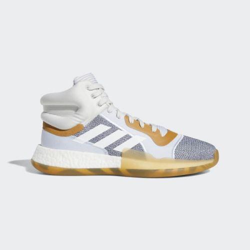 (取寄)アディダス メンズ マーキー ブースト バスケットボールシューズ adidas Men's Marquee Boost Shoes Raw Indigo / Cloud White / Aero Blue