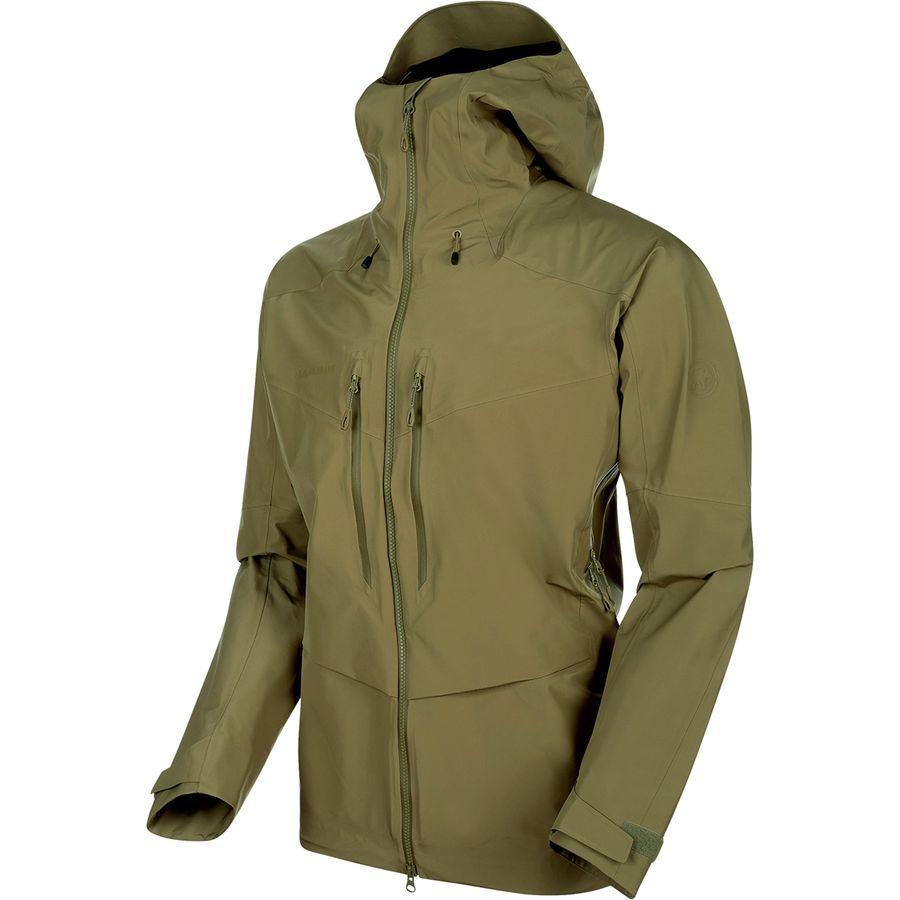【ハイキング 登山 マウンテン アウトドア】【ウェア アウター】【大きいサイズ ビッグサイズ】 (取寄)マムート メンズ ティトン HS フーデッド ジャケット Mammut Men's Teton HS Hooded Jacket Olive