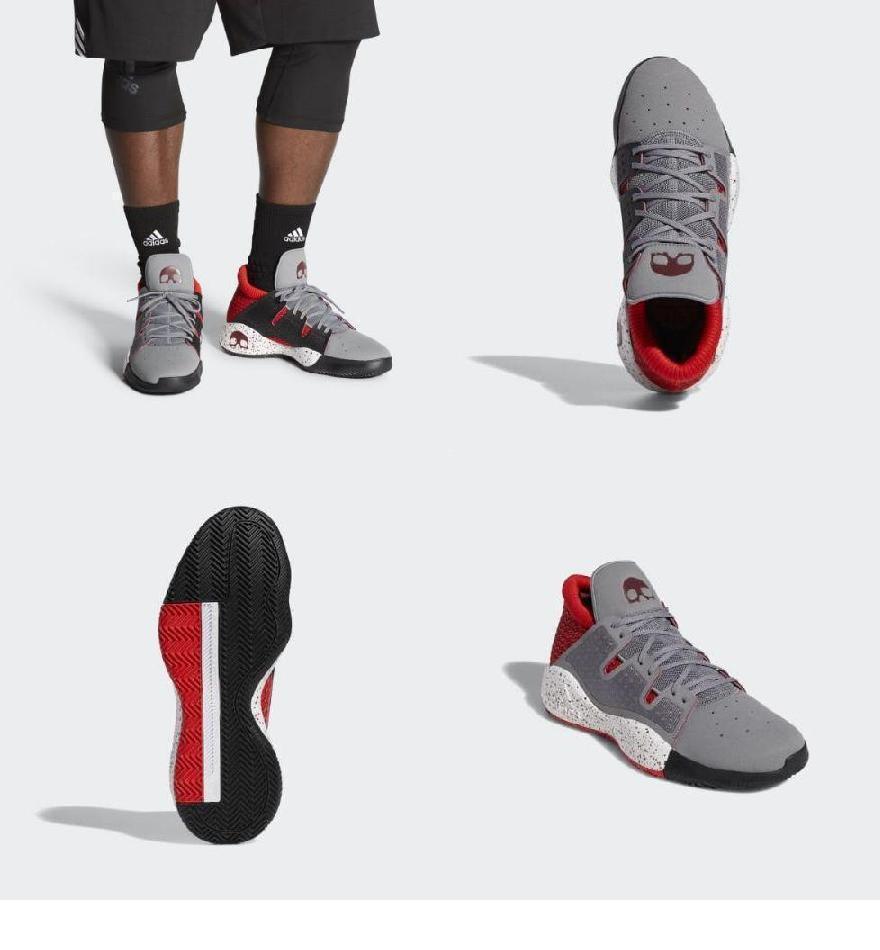 3d6b772386a71 (order) Adidas men pro vision basketball shoes adidas Men's Pro Vision  Shoes Grey Three / Collegiate Burgundy / Active Red