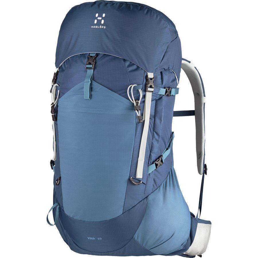 (取寄)ホグロフス ユニセックス ヴィーナ 40L バックパック Haglofs Men's Vina 40L Backpack Blue Ink/Steel Sky