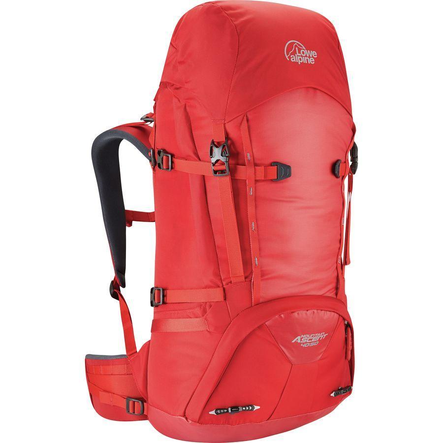 (取寄)ロウアルパイン ユニセックス マウンテン アセント 40+10L バックパック Lowe Alpine Men's Mountain Ascent 40+10L Backpack Haute Red