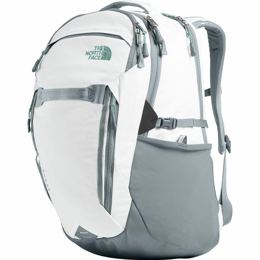 (取寄)ノースフェイス レディース サージ 31L バックパック The North Face Women Surge 31L Backpack Tnf White Light Directional Heather/Mid Grey