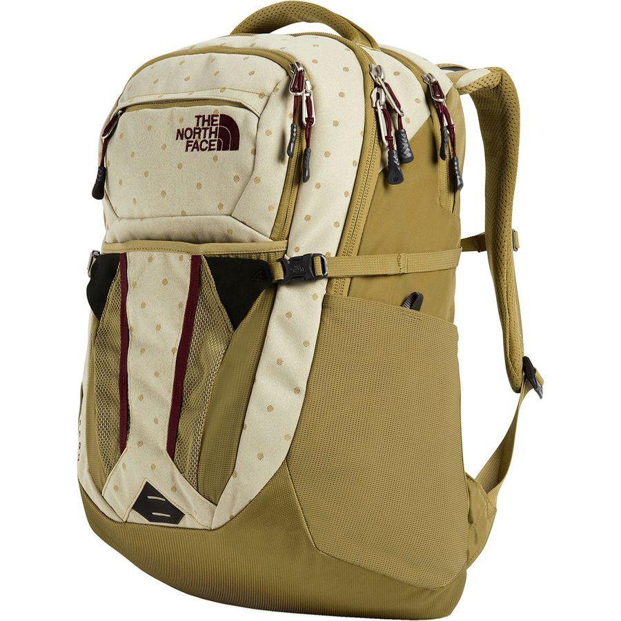【鞄 バッグ デイパック リュック】【登山 アウトドア ハイキング トレッキング】【山ガール ファッション ブランド】 【クーポンで最大2000円OFF】(取寄)ノースフェイス レディース リーコン 30L バックパック The North Face Women Recon 30L Backpack British Khaki Polka Dot Jacquard/British Khaki