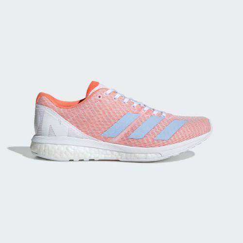 (取寄)アディダス レディース アディゼロ ボストン 8 ランニングシューズ adidas Women Adizero Boston 8 Shoes Cloud White / Glow Blue / Solar Orange