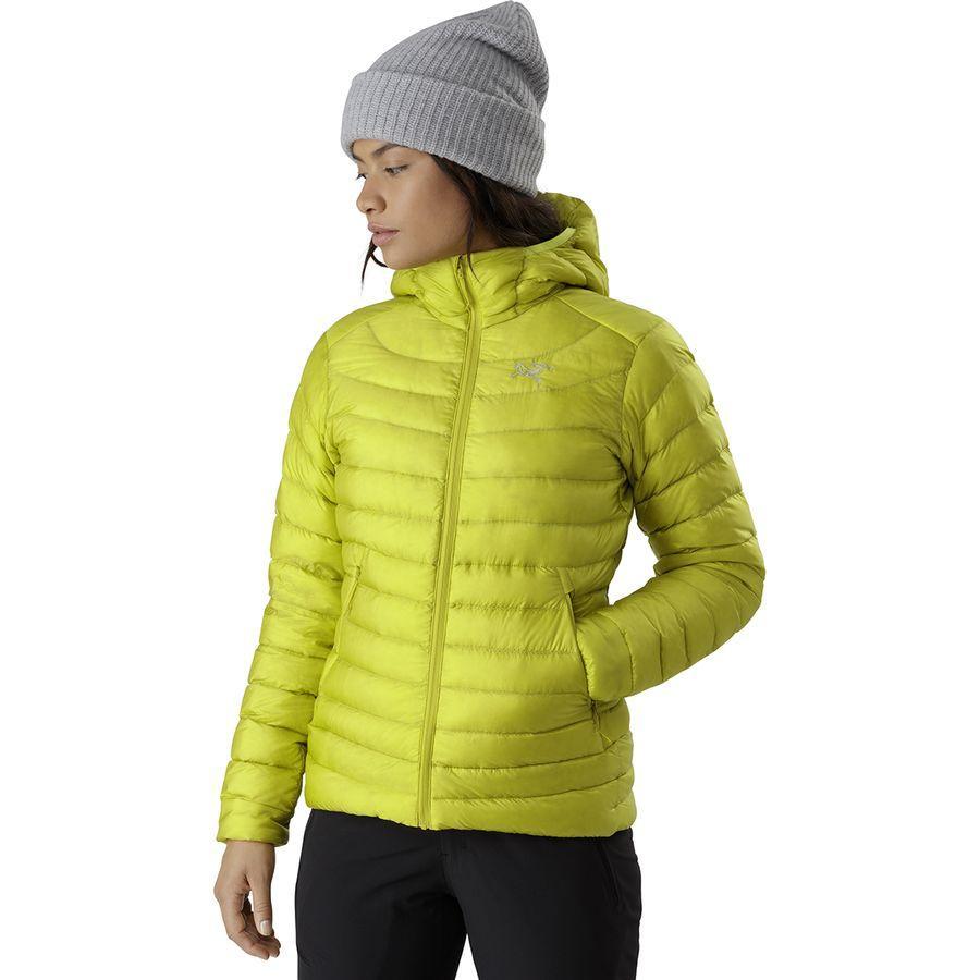 【ハイキング 登山 マウンテン アウトドア】【ウェア アウター】【山ガール ファッション ブランド】【大きいサイズ ビッグサイズ】 (取寄)アークテリクス レディース セリウム LT フーデッド ダウン ジャケット Arc'teryx Women Cerium LT Hooded Down Jacket Lampyre