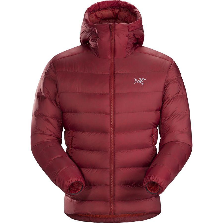 【ハイキング 登山 マウンテン アウトドア】【ウェア アウター】 (取寄)アークテリクス メンズ セリウム SV フーデッド ダウン ジャケット Arc'teryx Men's Cerium SV Hooded Down Jacket Infrared