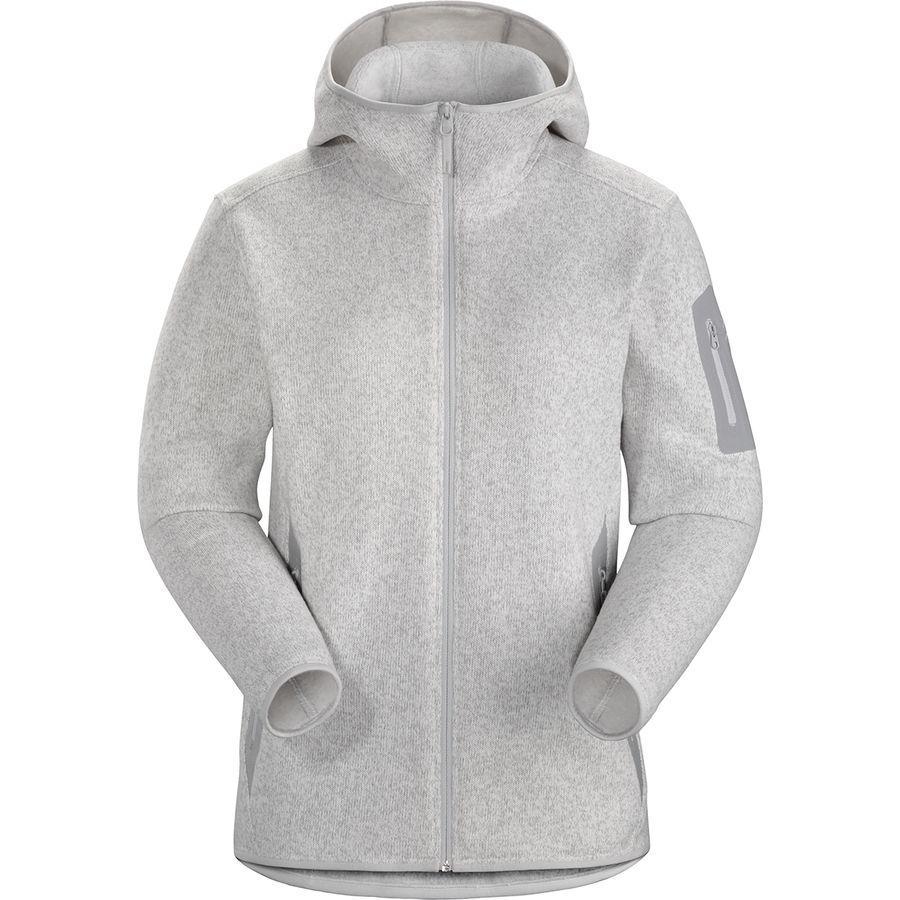 【ハイキング 登山 マウンテン アウトドア】【ウェア アウター】【山ガール ファッション ブランド】【大きいサイズ ビッグサイズ】 (取寄)アークテリクス レディース コバート フーデッド フリース ジャケット Arc'teryx Women Covert Hooded Fleece Jacket Athena Grey Heather