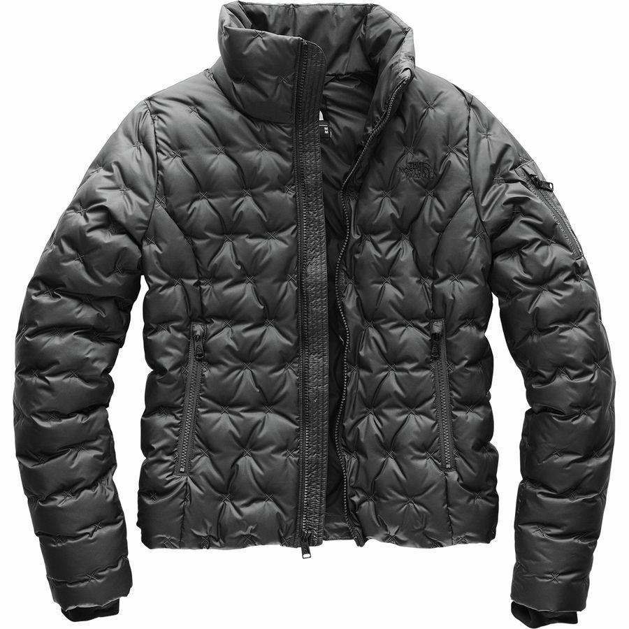 (取寄)ノースフェイス レディース ホラダウン クロップ ダウン ジャケット The North Face Women Holladown Crop Down Jacket Asphalt Grey