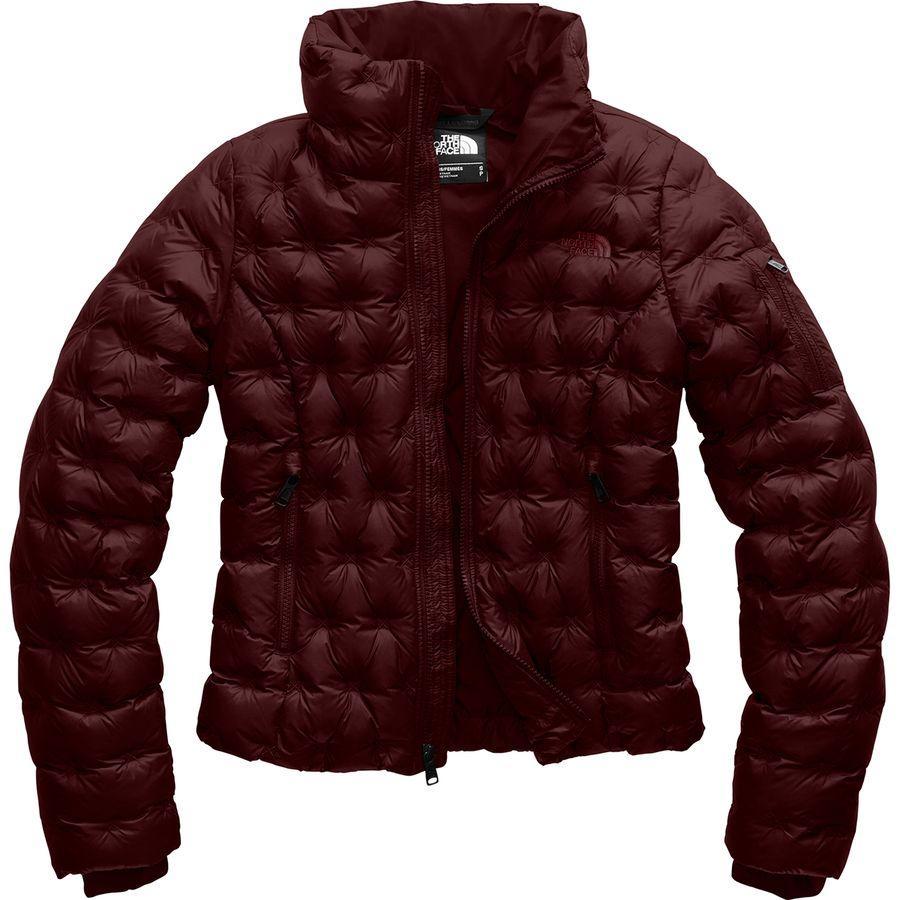 (取寄)ノースフェイス レディース ホラダウン クロップ ダウン ジャケット The North Face Women Holladown Crop Down Jacket Deep Garnet Red