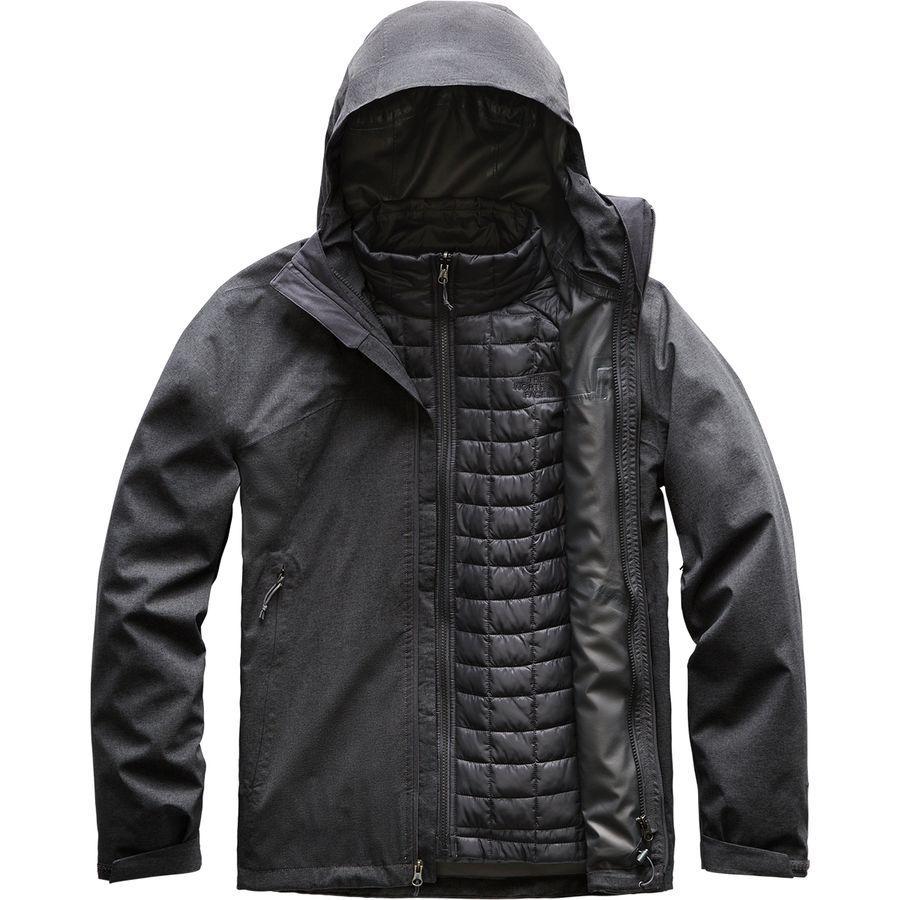 (取寄)ノースフェイス メンズ サーモボール トリクラメイト インサレーテッド ジャケット The North Face Men's Thermoball Triclimate Insulated Jacket Tnf Dark Grey Heather
