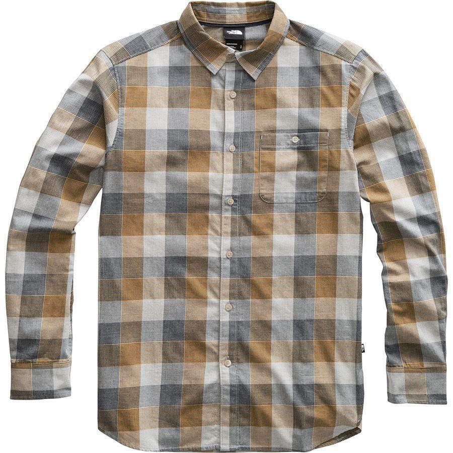 (取寄)ノースフェイス メンズ ヘイデン パス 2.0 ロングスリーブ シャツ The North Face Men's Hayden Pass 2.0 Long-Sleeve Shirt Golden Spice Encinal Plaid