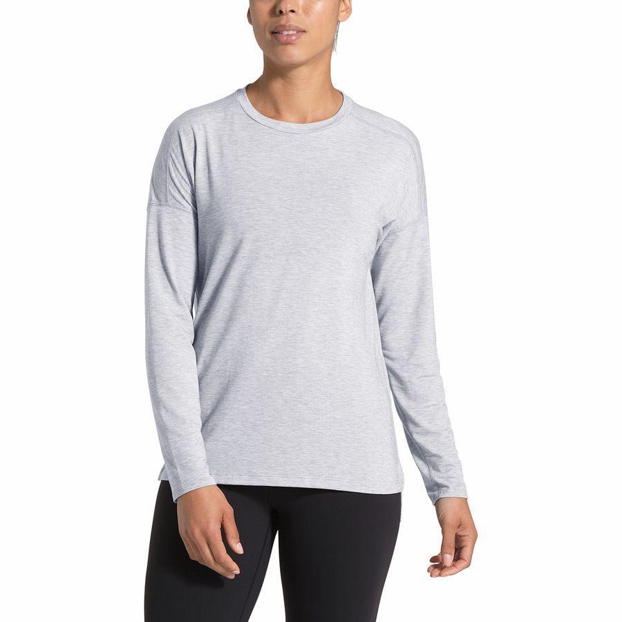 (取寄)ノースフェイス レディース ワークアウト ロングスリーブ トップ The North Face Women Workout Long-Sleeve Top Tnf Light Grey Heather
