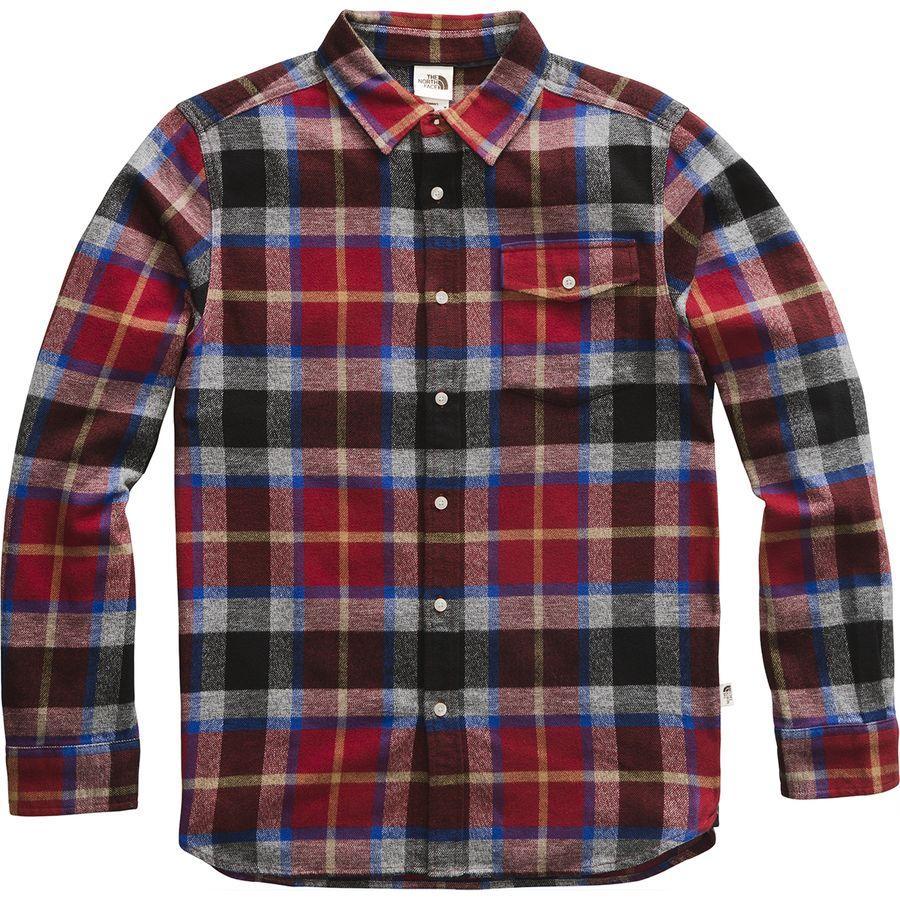 (取寄)ノースフェイス メンズ アロヨ ロングスリーブ フランネル シャツ The North Face Men's Arroyo Long-Sleeve Flannel Shirt Cardinal Red Speed Wagon Plaid