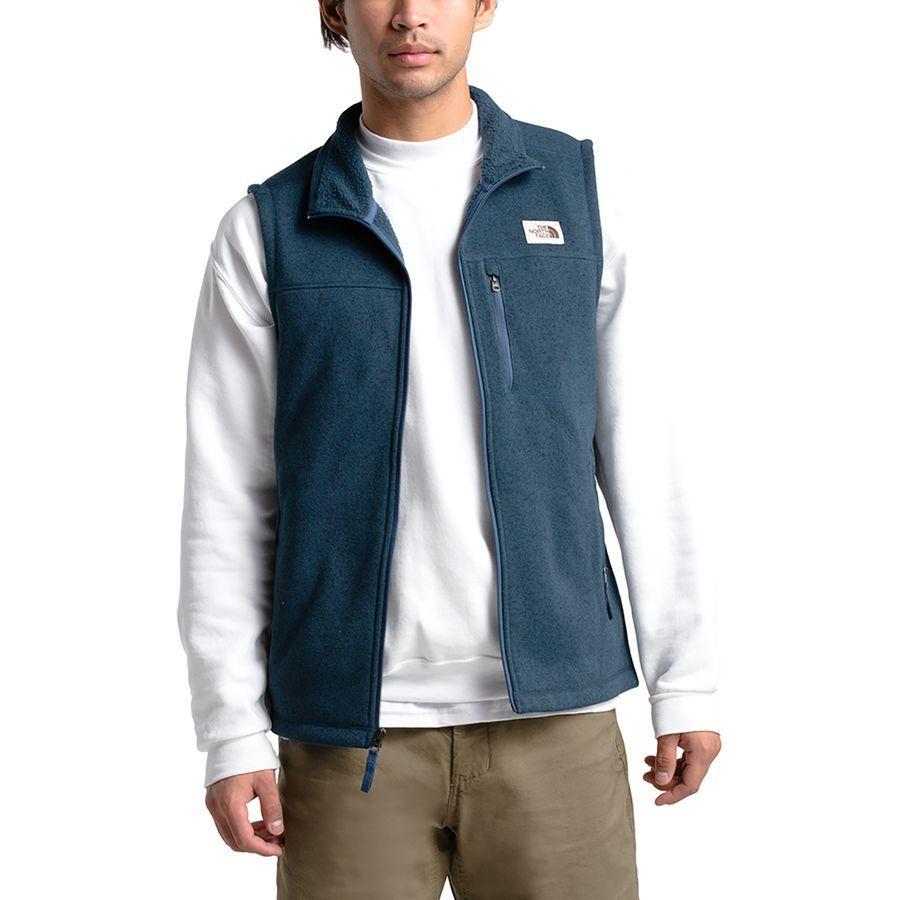 (取寄)ノースフェイス メンズ ゴードン リヨン フリース ベスト The North Face Men's Gordon Lyons Fleece Vest Shady Blue Heather