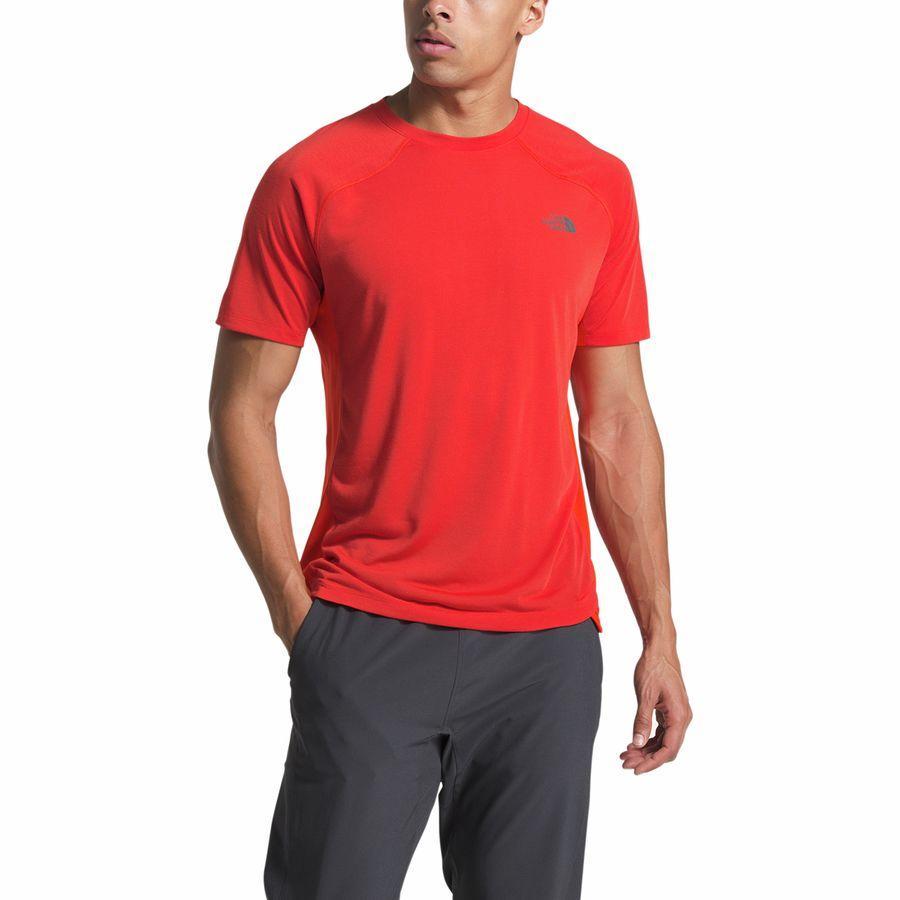 (取寄)ノースフェイス メンズ エッセンシャル ショートスリーブ シャツ The North Face Men's Essential Short-Sleeve Shirt Fiery Red