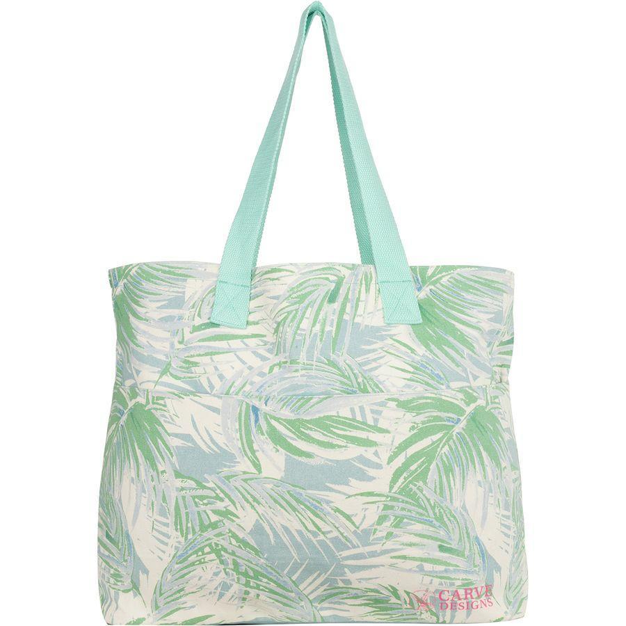 (取寄)カーブ レディース デザイン オール デイ トート Carve Women Designs All Day Tote White Palms
