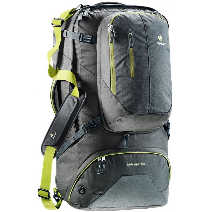 (取寄)ドイター ユニセックス トランジット 65L バックパック Deuter Men's Transit 65L Backpack Anthracite/Moss