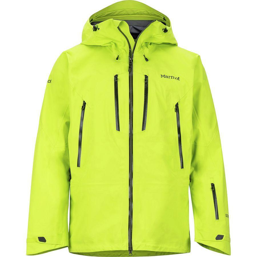【クーポンで最大2000円OFF】(取寄)マーモット メンズ アルピニスト ジャケット Marmot Men's Alpinist Jacket Bright Lime