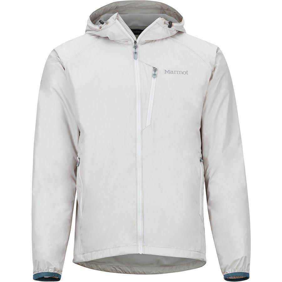 (取寄)マーモット メンズ イーザー ドライクライム フーデッド ジャケット Marmot Men's Ether DriClime Hooded Jacket Platinum