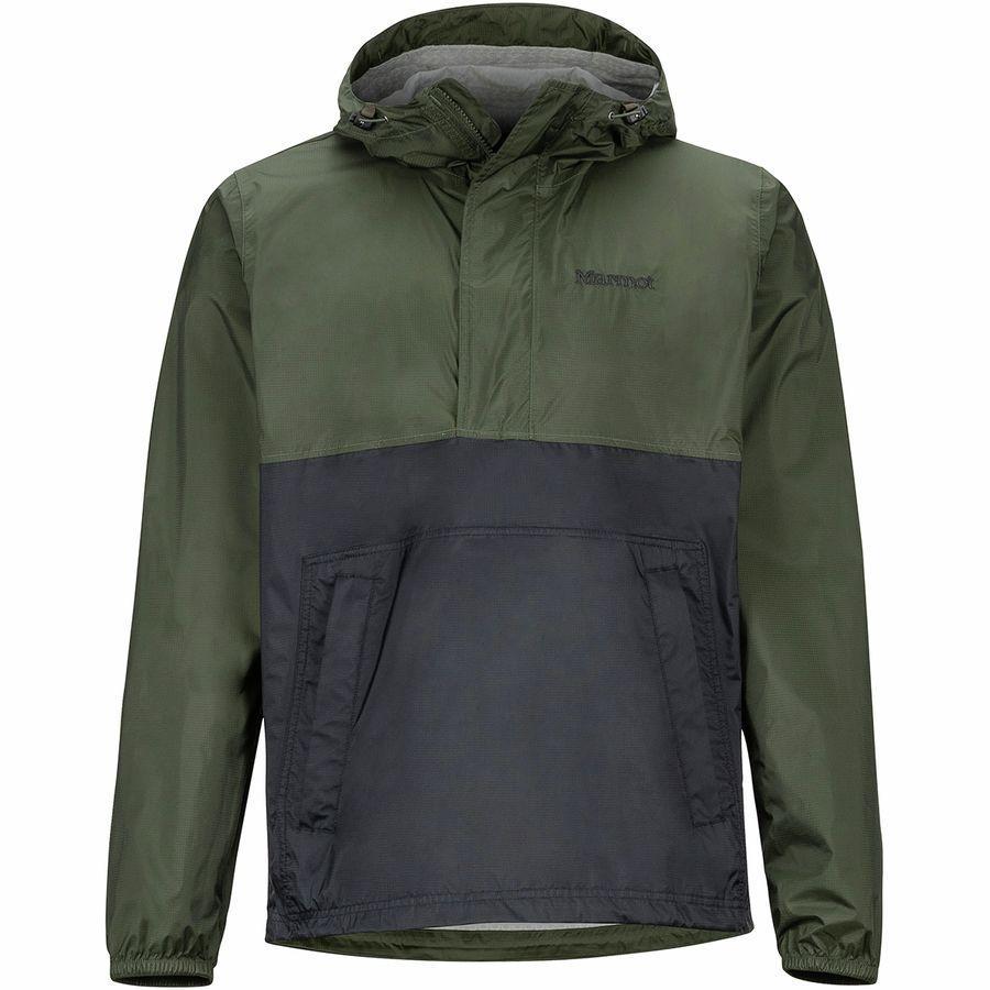 (取寄)マーモット メンズ PreCip エコ アノラック Marmot Men's PreCip Eco Anorak Rosin Green/Black