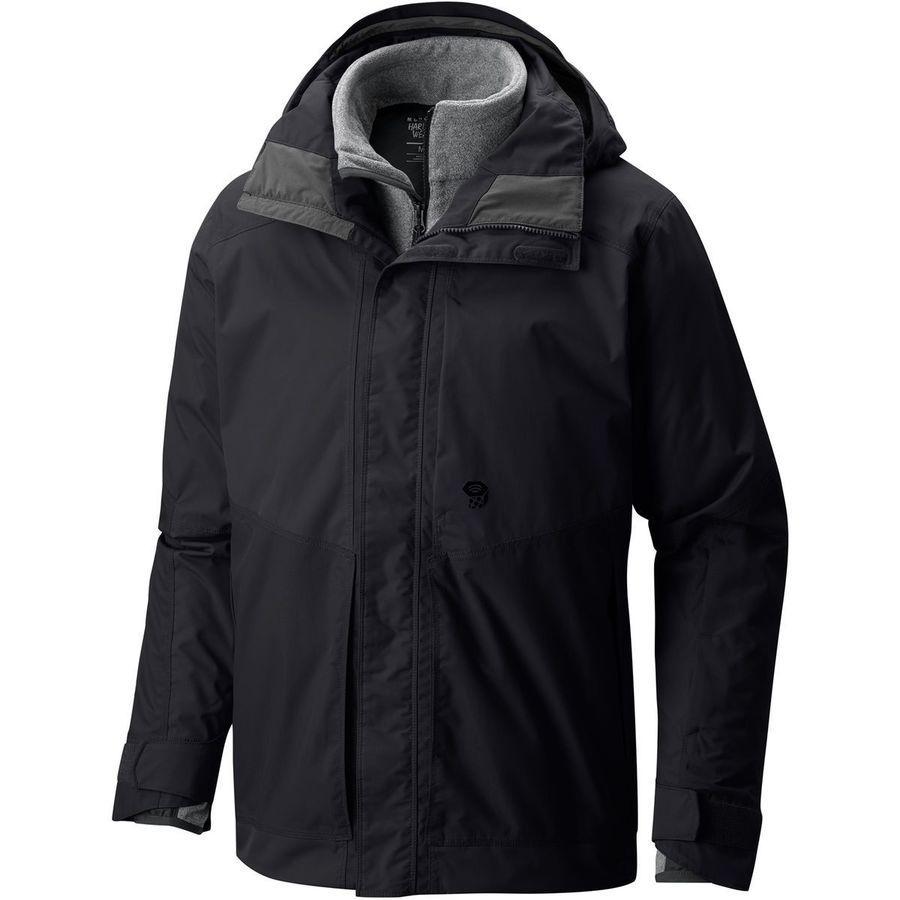 【クーポンで最大2000円OFF】(取寄)マウンテンハードウェア メンズ キルスウィッチ コンポジット 3-in1インサレーテッド ジャケット Mountain Hardwear Men's Killswitch Composite 3-in1 Insulated Jacket Black