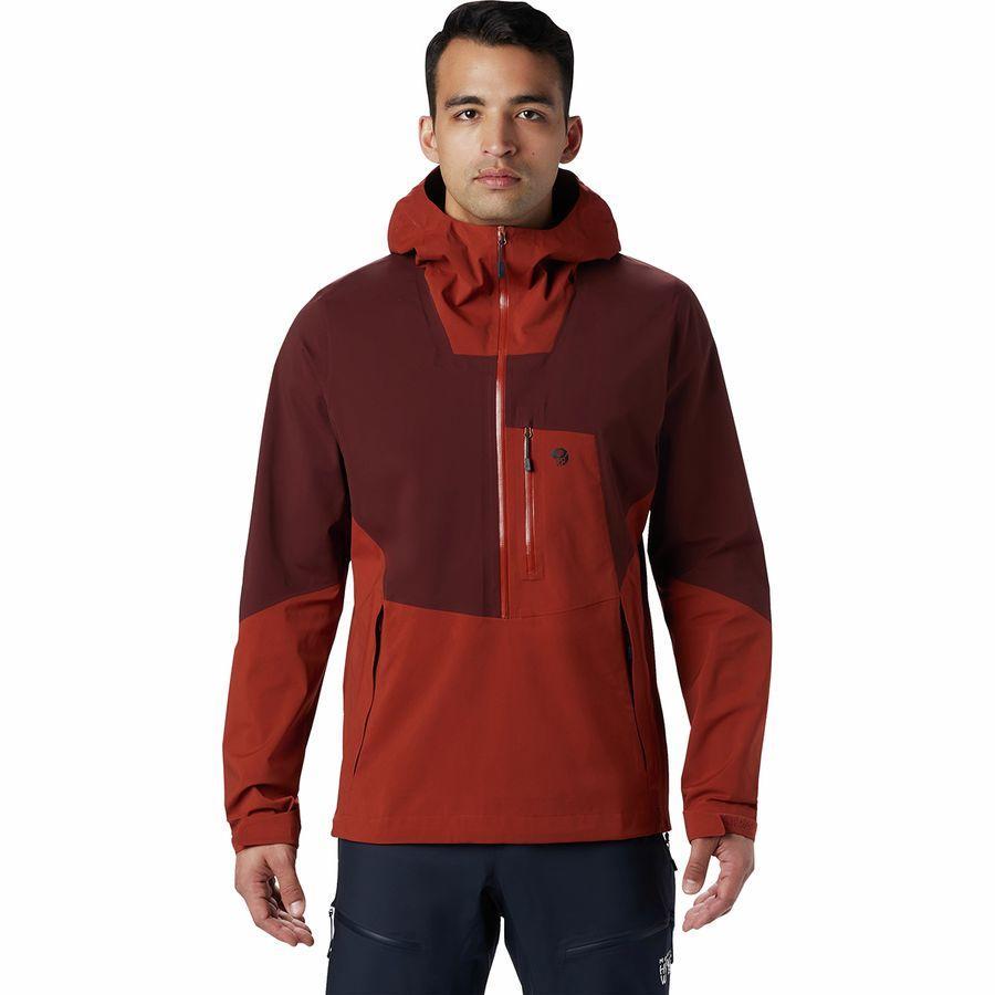 【ハイキング 登山 トレッキング 山登り アウトドア カジュアル】【ジャケット アウター ウェア】【メンズ 男性用】 (取寄)マウンテンハードウェア メンズ エクスポージャー/ 2 Gtx パックライト ストレッチ プルオーバー ジャケット Mountain Hardwear Men's Exposure/2 GTX Paclite Stretch Pullover Jacket Rusted