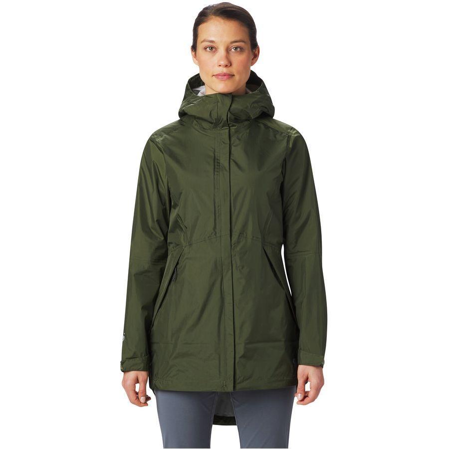 (取寄)マウンテンハードウェア レディース アカディア パーカー Mountain Hardwear Women Acadia Parka Dark Army