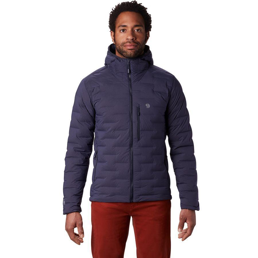 (取寄)マウンテンハードウェア メンズ スーパー DS ストレッチダウン フーデッド ジャケット Mountain Hardwear Men's Super DS Stretchdown Hooded Jacket Dark Zinc
