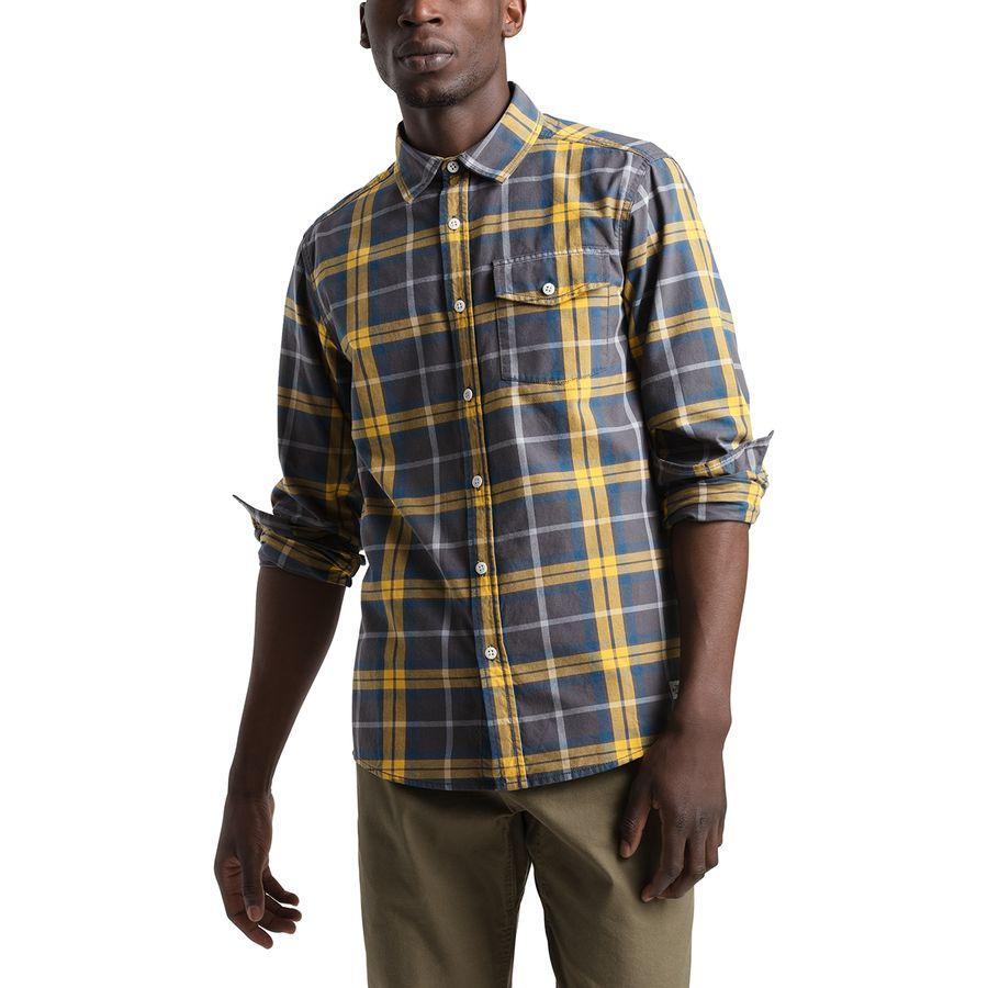 (取寄)ノースフェイス メンズ ステイサイド シャモア ロングスリーブ シャツ The North Face Men's Stayside Chamois Long-Sleeve Shirt Asphalt Grey Leavin Plaid