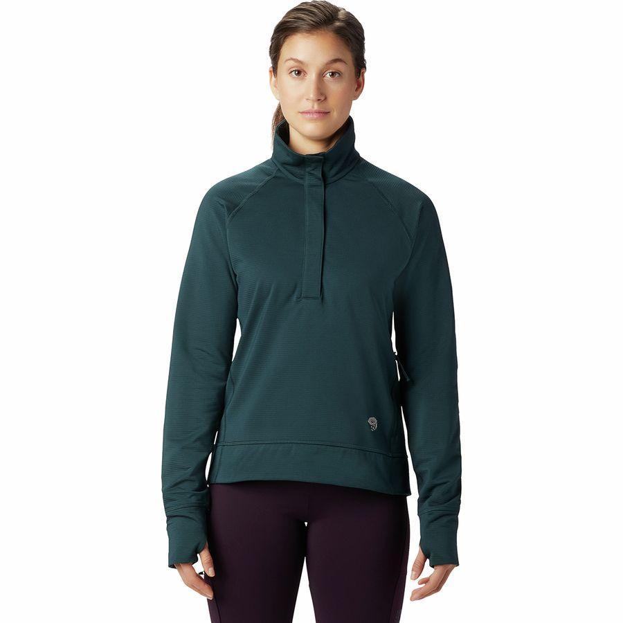 (取寄)マウンテンハードウェア レディース ノース ピーク フリース プルオーバー Mountain Hardwear Women Norse Peak Fleece Pullover Blue Spruce