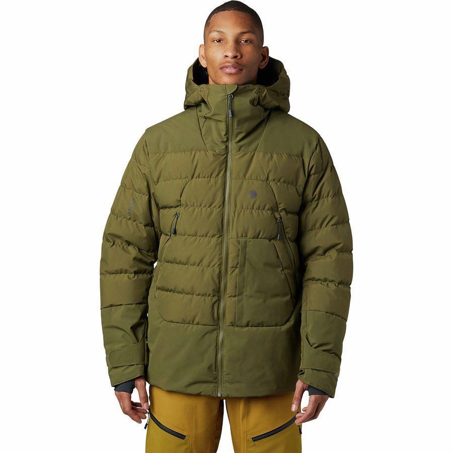 (取寄)マウンテンハードウェア メンズ ダイレクト ノース Gtx ウィンドストッパー ダウン ジャケット Mountain Hardwear Men's Direct North GTX Windstopper Down Jacket Combat Green
