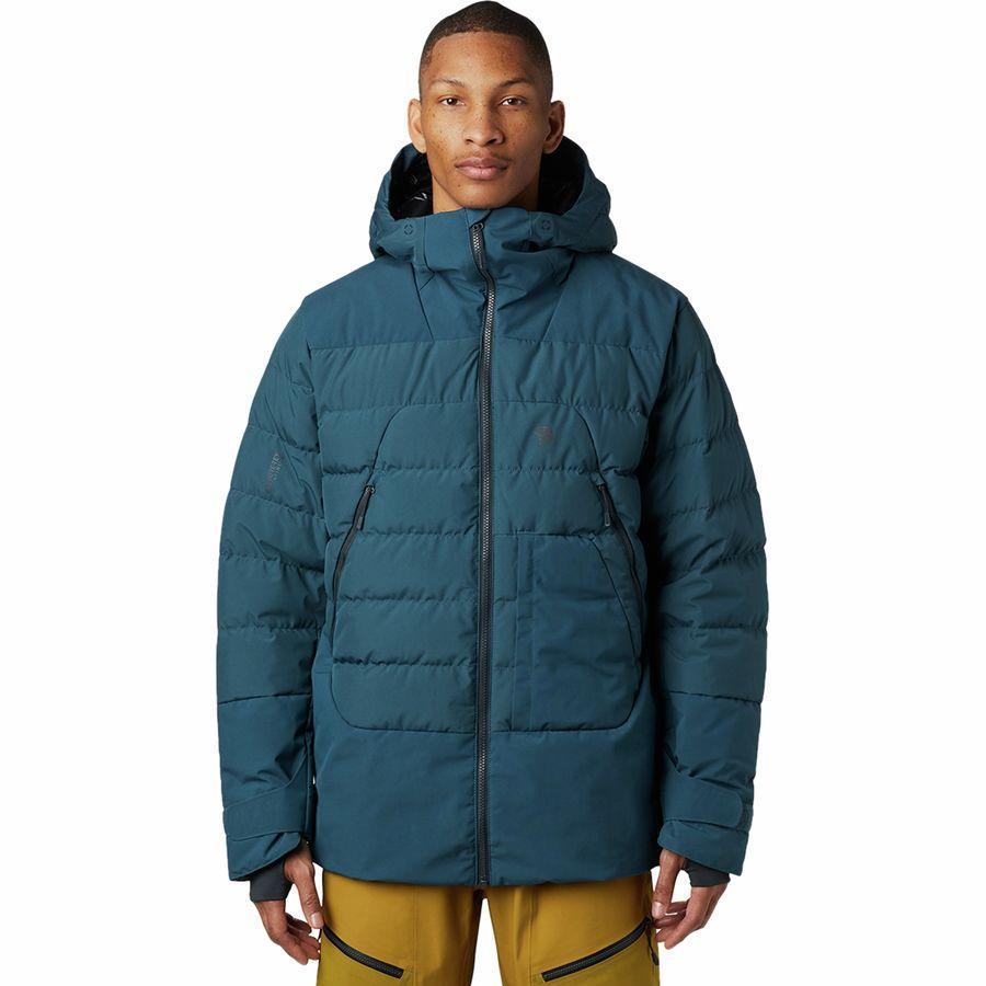 (取寄)マウンテンハードウェア メンズ ダイレクト ノース Gtx ウィンドストッパー ダウン ジャケット Mountain Hardwear Men's Direct North GTX Windstopper Down Jacket Icelandic