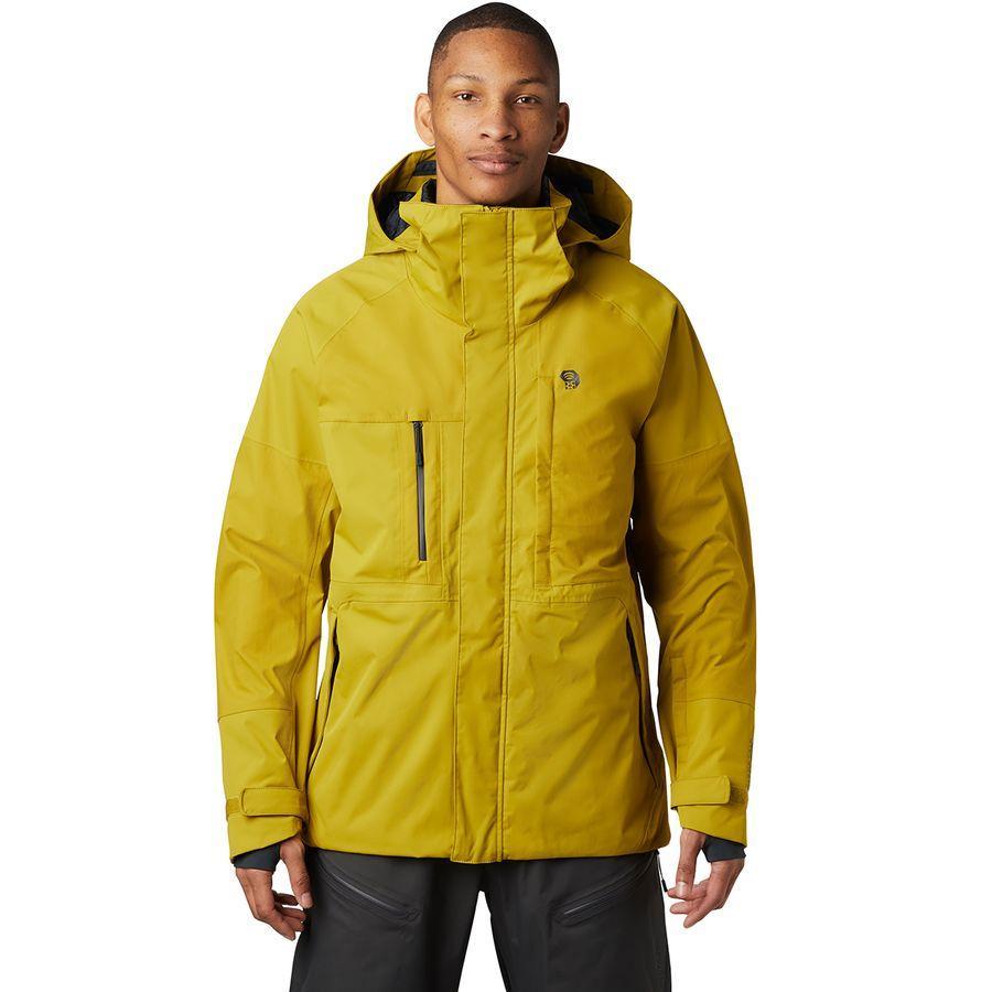 【クーポンで最大2000円OFF】(取寄)マウンテンハードウェア メンズ ファイアフォール 2 ジャケット Mountain Hardwear Men's Firefall 2 Jacket Dark Citron