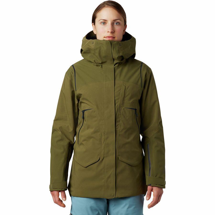 (取寄)マウンテンハードウェア レディース バウンダリ ライン Gtx インサレーテッド ジャケット Mountain Hardwear Women Boundary Line GTX Insulated Jacket Combat Green