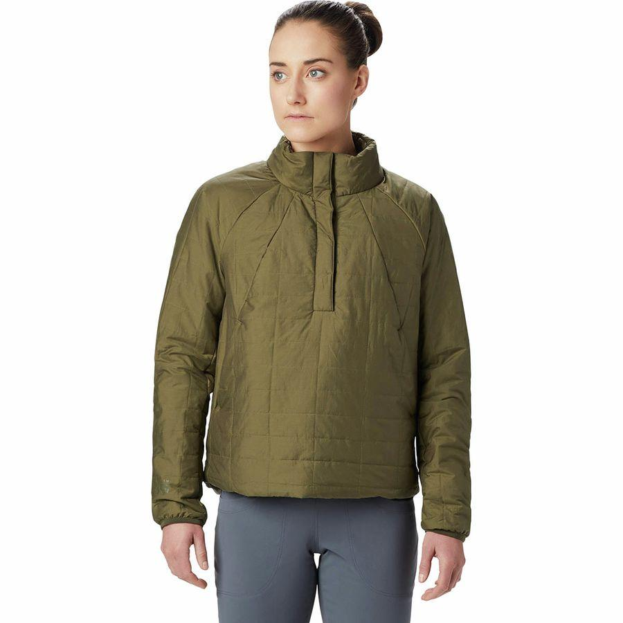 (取寄)マウンテンハードウェア レディース スカイラブ インサレーテッド プルオーバー Mountain Hardwear Women Skylab Insulated Pullover Combat Green