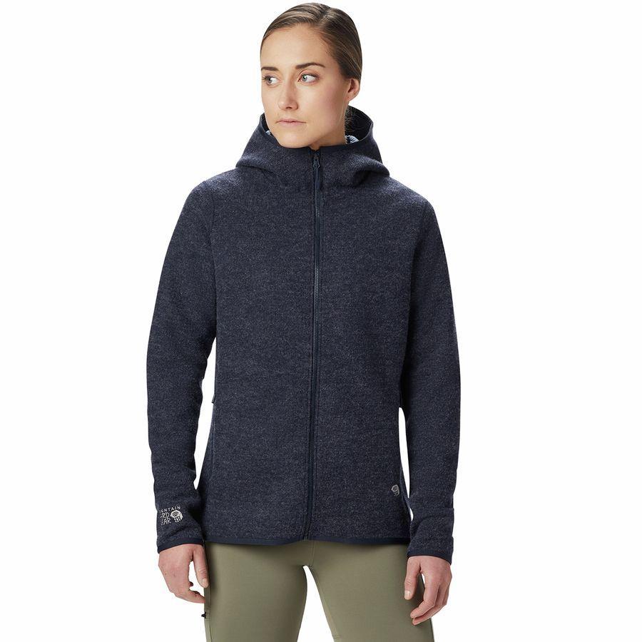 (取寄)マウンテンハードウェア レディース ハッチャー フルジップ フーデッド ジャケット Mountain Hardwear Women Hatcher Full-Zip Hooded Jacket Dark Zinc