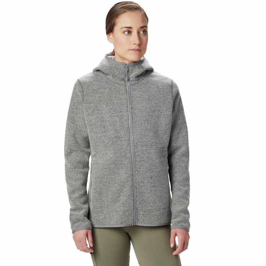 【エントリーでポイント5倍】(取寄)マウンテンハードウェア レディース ハッチャー フルジップ フーデッド ジャケット Mountain Hardwear Women Hatcher Full-Zip Hooded Jacket Manta Grey