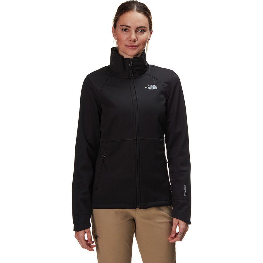 【ハイキング 登山 マウンテン アウトドア】【ウェア アウター】【山ガール ファッション ブランド】【大きいサイズ ビッグサイズ】 (取寄)ノースフェイス レディース アペックス リソル ソフトシェル ジャケット The North Face Women Apex Risor Softshell Jacket Tnf Black