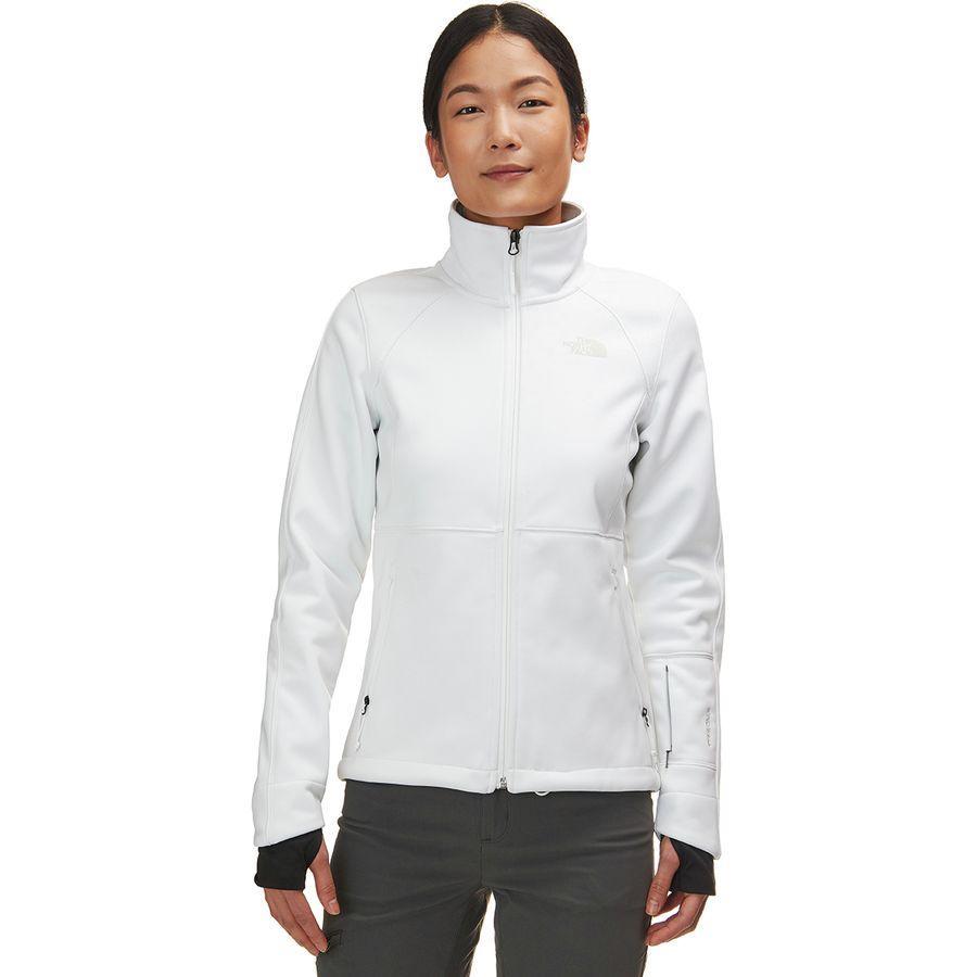 【ハイキング 登山 マウンテン アウトドア】【ウェア アウター】【山ガール ファッション ブランド】【大きいサイズ ビッグサイズ】 (取寄)ノースフェイス レディース アペックス リソル ソフトシェル ジャケット The North Face Women Apex Risor Softshell Jacket Tnf White/Tin Grey