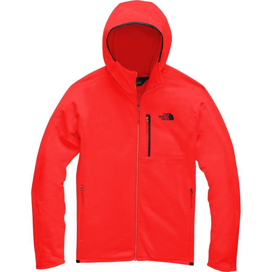 (取寄)ノースフェイス メンズ キャニオンランズ フーデッド フリース ジャケット The North Face Men's Canyonlands Hooded Fleece Jacket Fiery Red